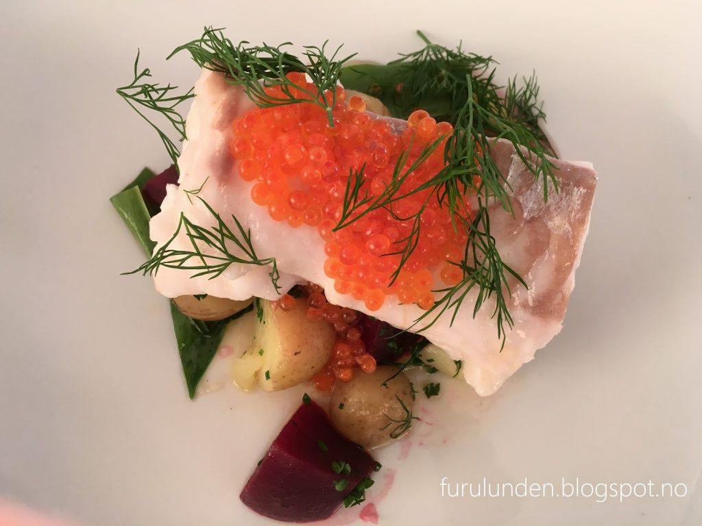 Restaurant Sillen & Makrillen - forrett med fisk og lodderogn