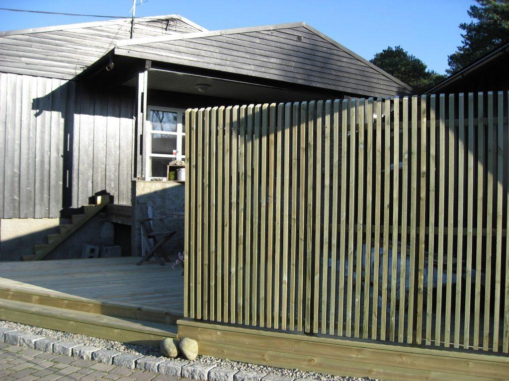 Bygge terrasse - tips. Espalier og terrassen er klar til bruk. Furulunden