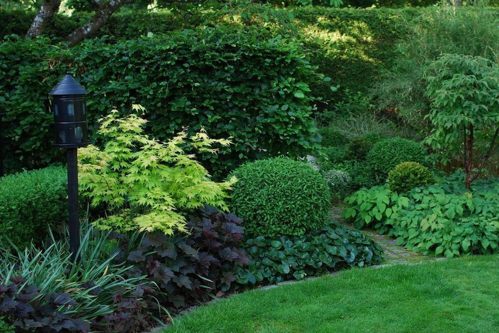 Idag har jeg gleden av å vise deg Marias drøm av en hage - Blomsterbed og grønnsvær i Marias hage