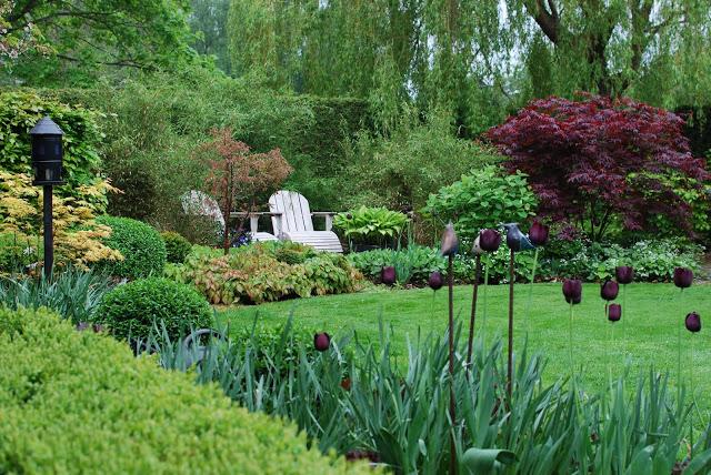 Idag har jeg gleden av å vise deg Marias drøm av en hage - Perspektiv over Marias hage