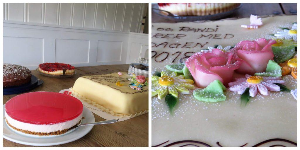 Enkel borddekking til familiens sommerfest på hytta - kakebord må til på en fest