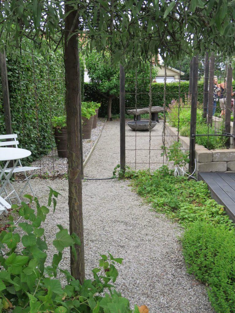Nyt den hvite hagen - Rominndeling i my white garde, trädgårdsrundan, Helsingborg