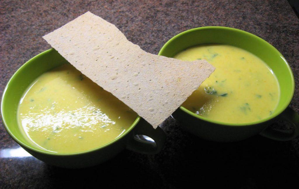 Squash-suppe som smaker kjempegodt. Grønnsaker fra hyttehagen (Furulunden)