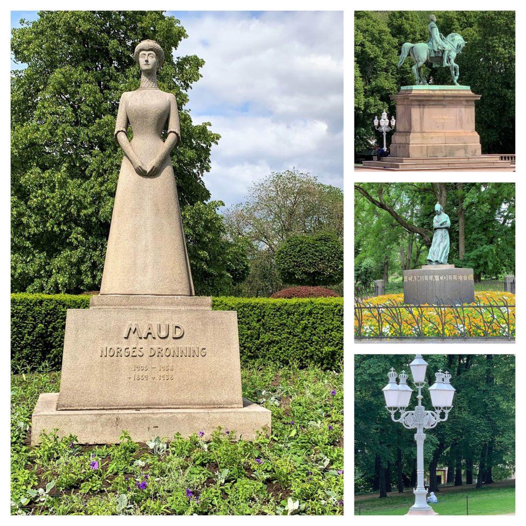 Slottsparken - en oase i hovedstaden vår, Oslo. Det finnes 7 statuer i parken.-min