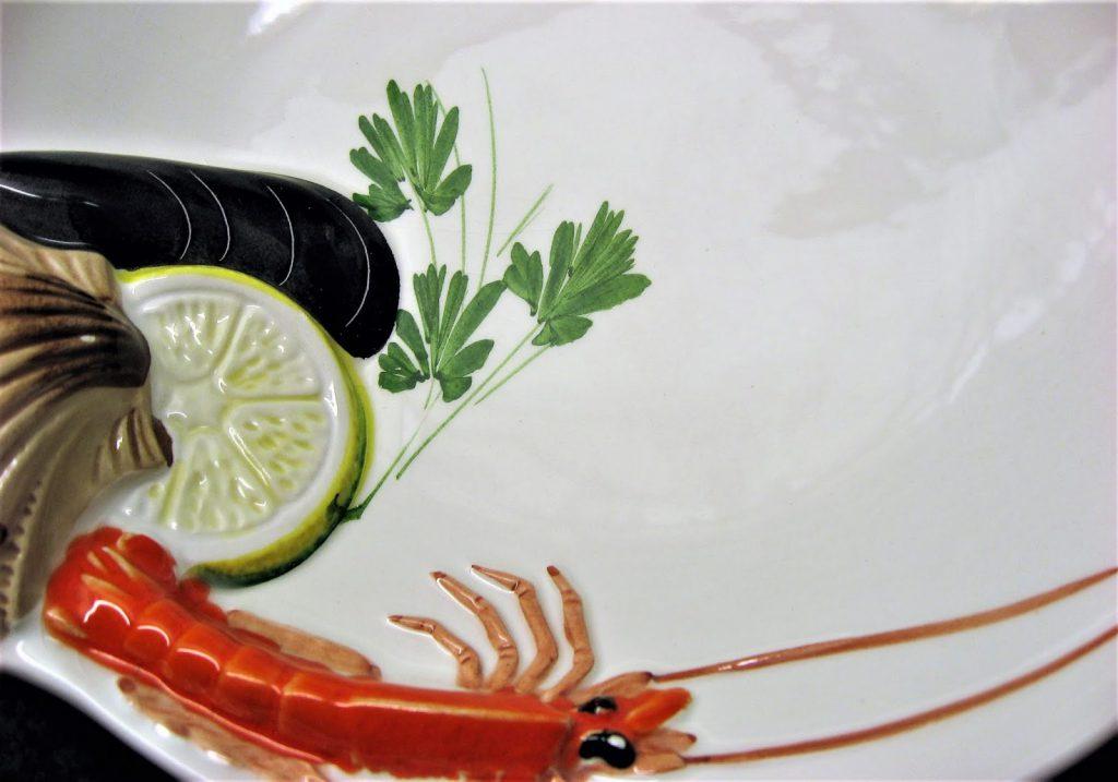 Fiskesuppe med grønnsaker - laget fra bunnen av - Fisketallerken. Furulunden. IMG_6805