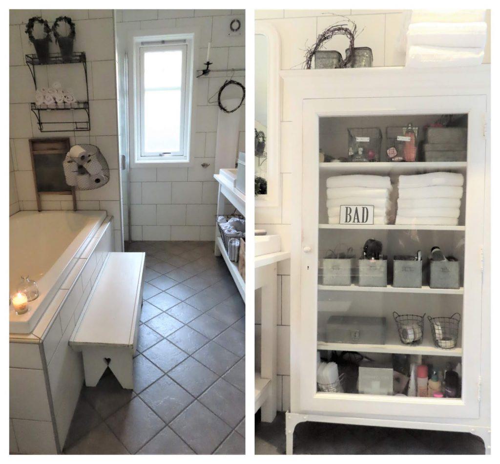 Når interiør og hage samsvarer - hjemme hos Jeanette, kollasj fra badet