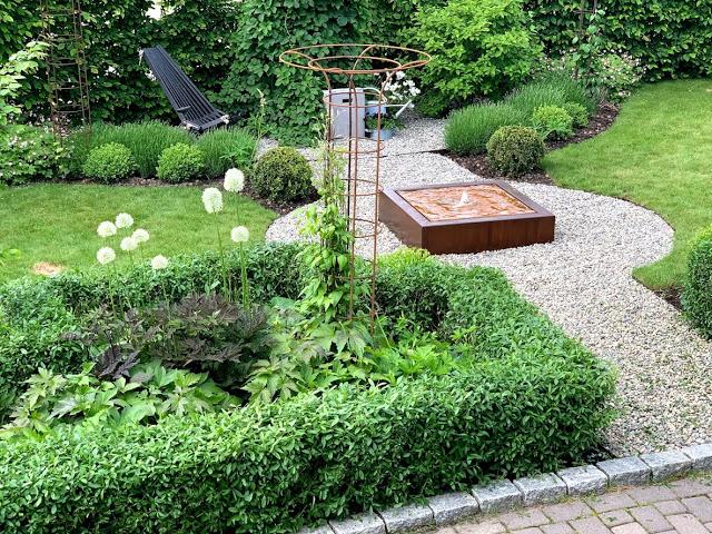 Hvor viktig er bedkanter i fontene-prosjektet vårt - oversiktsbilde av fontene og bedkantene