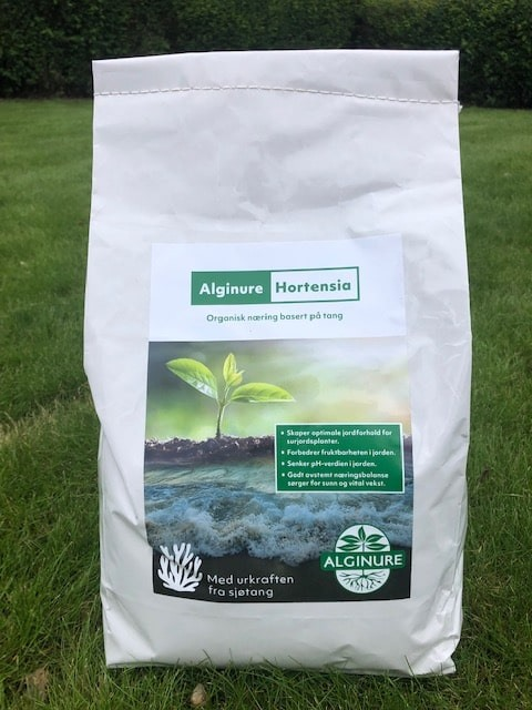 Alginure tangprodukter til surjordsplanter