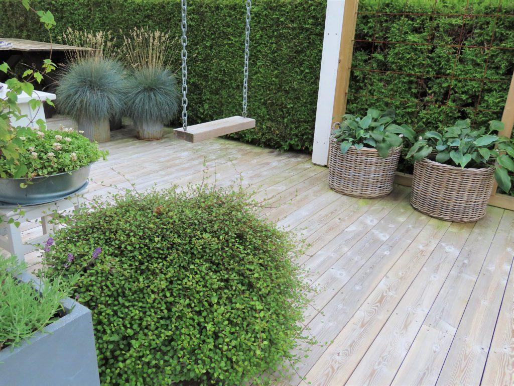 Tips til å lage din egen hage Terrasse som hage - med huske