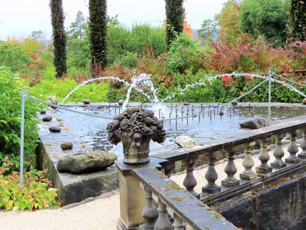 Det er flere fontenter i Havlystparken