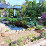 Drivhus og dam i hagen til Wenche