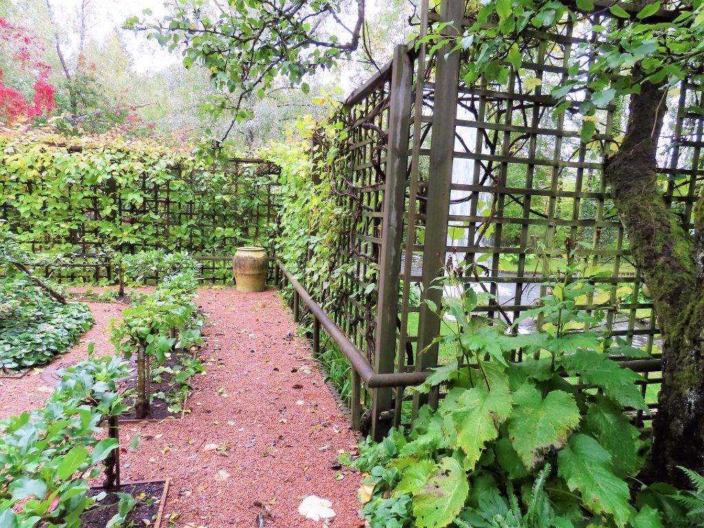 På vei inn i fruktgården på Ramme Gård