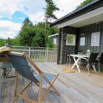 Inspirasjon til å rive og bygge veranda på hytta - det meste av verandaen