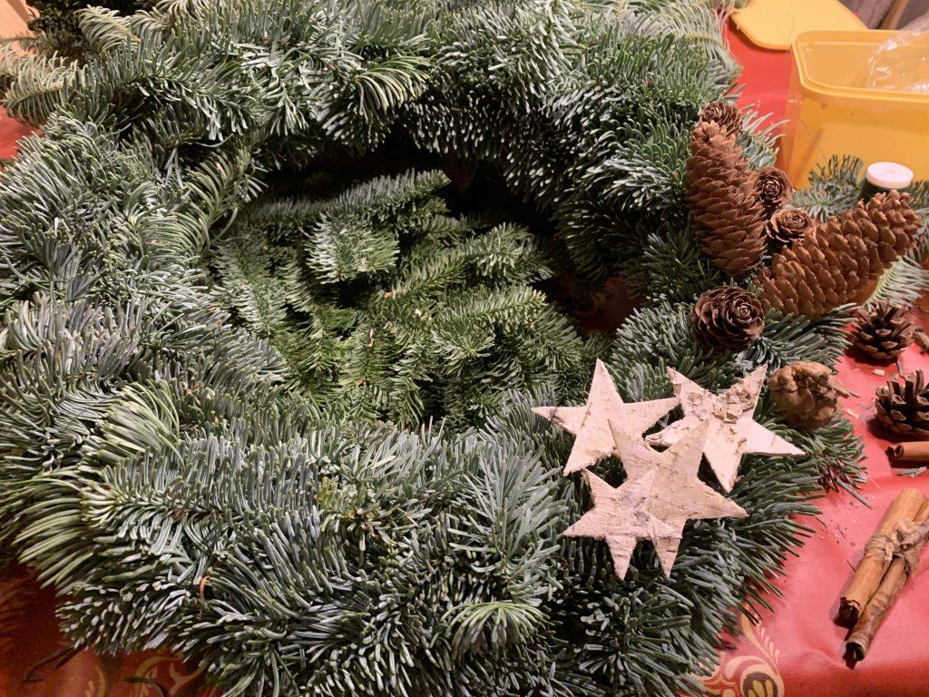 Kan julekransen se slik ut mon tro - uttesting