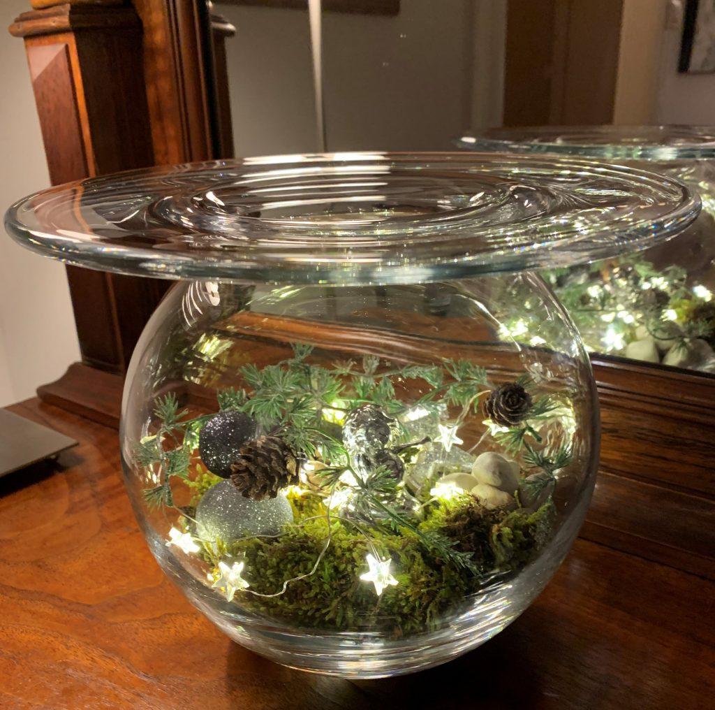 Lys opp med hjemmelagde lykter til jul - bruke en glassvase og lyslenker m.m.