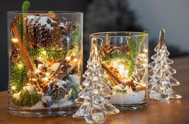 Lyslykt-og-glasspynt -inspirasjon fra Interflora